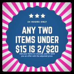 2 for $20 🛍 -(Any item under $15)